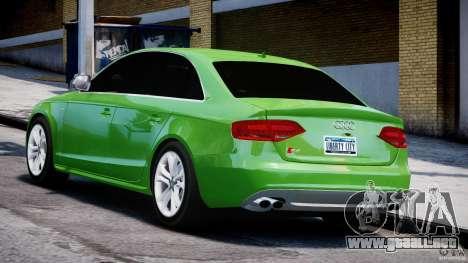 Audi S4 2010 v1.0 para GTA 4 Vista posterior izquierda
