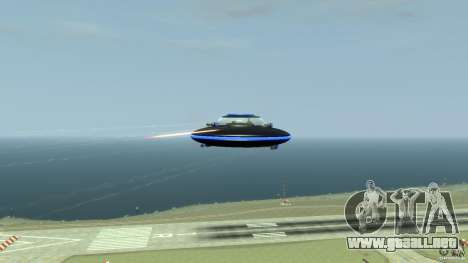 UFO neon ufo blue para GTA 4 vista hacia atrás