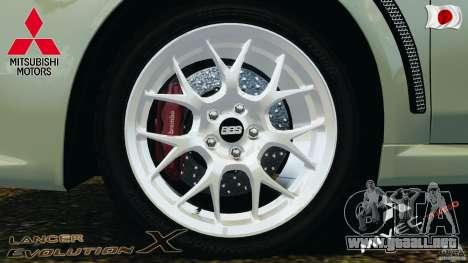 Mitsubishi Lancer Evolution X 2007 para GTA 4 vista interior