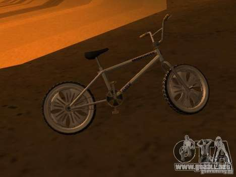 New Bmx para GTA San Andreas vista hacia atrás