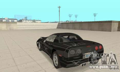 Chevrolet Corvette 5 para la vista superior GTA San Andreas