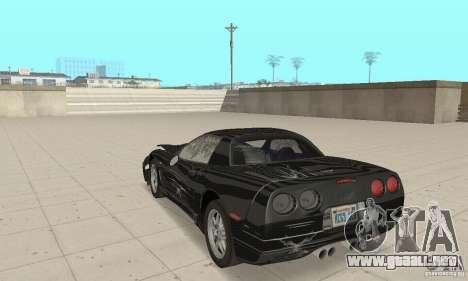 Chevrolet Corvette 5 para la vista superior GTA San Andreas
