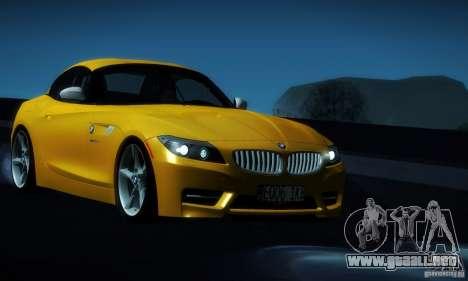 BMW Z4 Stock 2010 para vista lateral GTA San Andreas