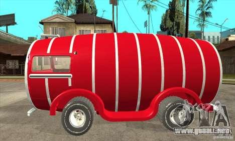 Beer Barrel Truck para GTA San Andreas left