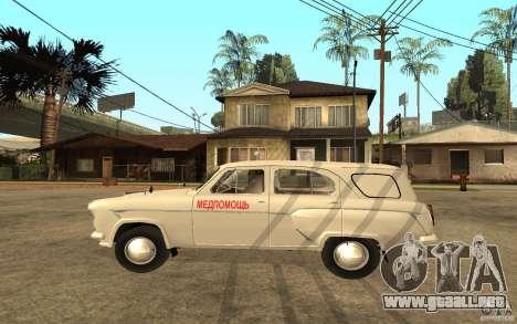 Moskvitch 423 m ambulancia para GTA San Andreas left