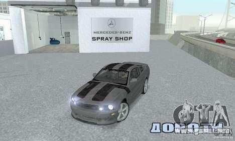 Saleen S281 Pack 1 para la visión correcta GTA San Andreas