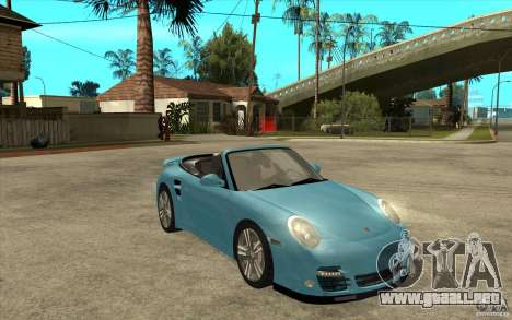 Porsche 911 Cabriolet 2010 para GTA San Andreas vista hacia atrás