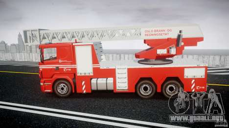 Scania Fire Ladder v1.1 Emerglights blue [ELS] para GTA 4 left