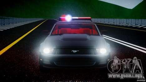 Ford Mustang V6 2010 Police v1.0 para GTA motor 4
