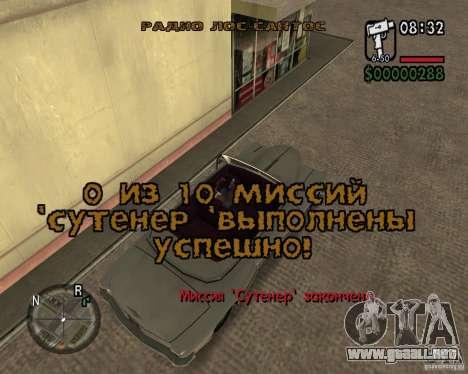 NewFontsSA 2012 para GTA San Andreas novena de pantalla