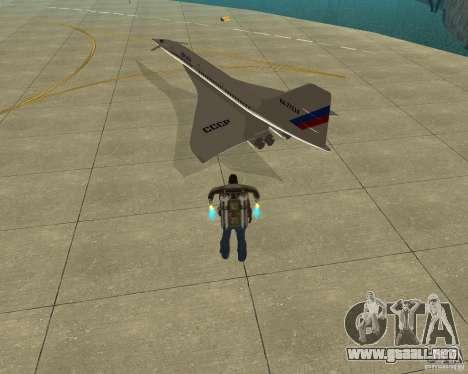 Tupolev TU-144 para GTA San Andreas left