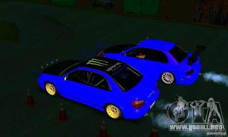 Subaru Impreza WRX Rally para visión interna GTA San Andreas