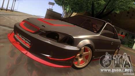 Honda Civic SI para vista lateral GTA San Andreas