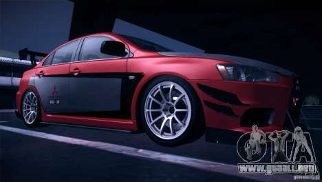 Mitsubishi Lancer Evolution X Tunable para visión interna GTA San Andreas