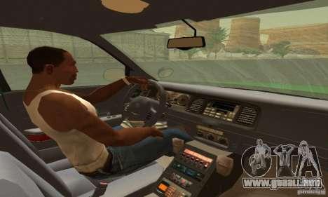 Ford Crown Victoria Vermont Police para GTA San Andreas vista posterior izquierda
