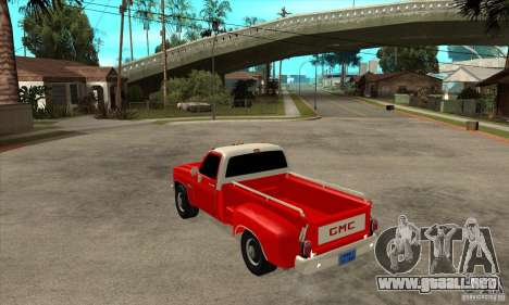 GMC 454 PICKUP para GTA San Andreas vista posterior izquierda