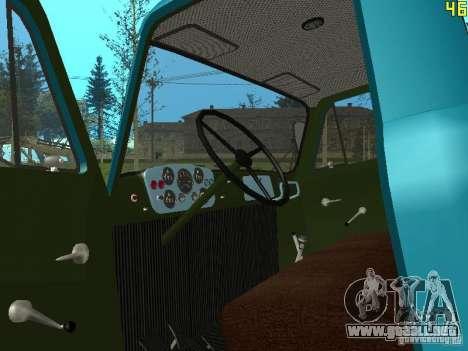 GAZ-53 ballonovoz para visión interna GTA San Andreas