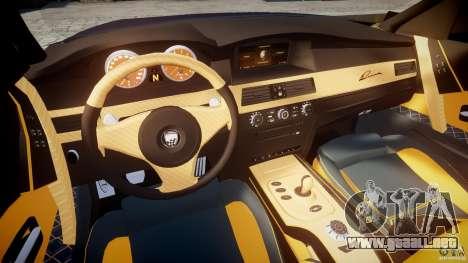 BMW M5 Lumma Tuning [BETA] para GTA 4 vista hacia atrás