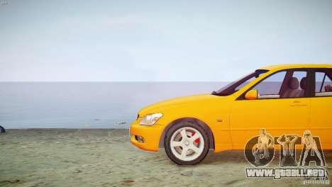 Toyota Altezza Gita Version 2 para GTA 4 vista hacia atrás