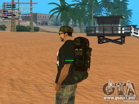 Military backpack para GTA San Andreas