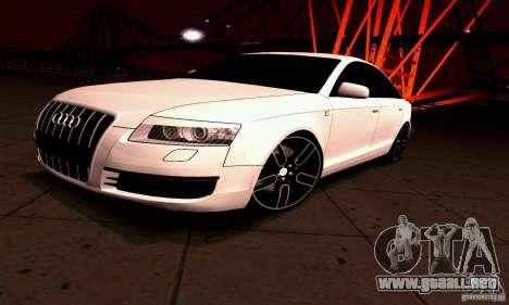 Audi A6 Blackstar para GTA San Andreas vista posterior izquierda