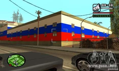 Hotel ruso para GTA San Andreas segunda pantalla