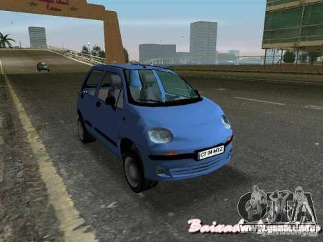 Daewoo Matiz para GTA Vice City vista lateral izquierdo