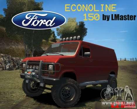 Ford Econoline 150 para GTA 4 vista hacia atrás
