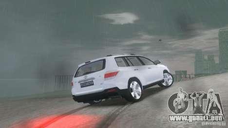 Toyota Highlander 2012 v2.0 para GTA 4 visión correcta