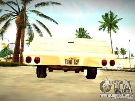 Chevrolet El Camino 1976 para la visión correcta GTA San Andreas