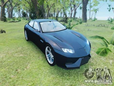Lamborghini Estoque para GTA 4 vista hacia atrás