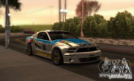 Ford Mustang GT-R para la vista superior GTA San Andreas