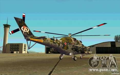 Mi-24 para la visión correcta GTA San Andreas