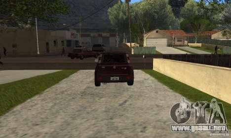 Fiat Novo Uno Sporting para GTA San Andreas vista posterior izquierda