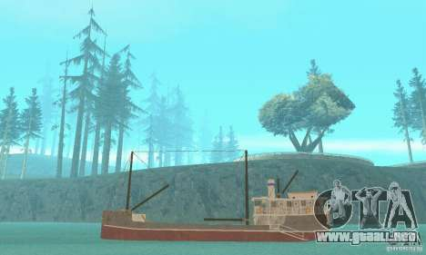 Steam Freighter para GTA San Andreas vista posterior izquierda