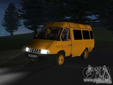 Taxi gacela para GTA San Andreas left