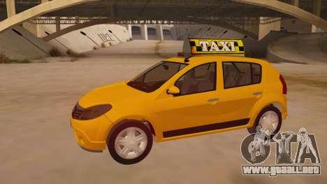 Renault Sandero Taxi para visión interna GTA San Andreas