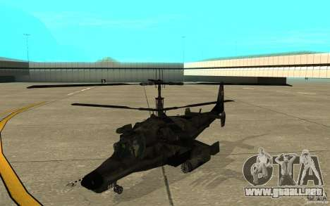 Kamov KA 50 Dlack Shark para GTA San Andreas left