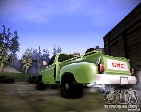 GMC 80 para GTA San Andreas vista posterior izquierda