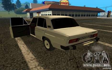 2106 VAZ v. 2 para GTA San Andreas vista posterior izquierda