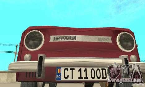 Dacia 1100 para vista lateral GTA San Andreas