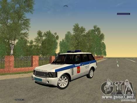 Range Rover Supercharged 2008 policía Departamen para vista lateral GTA San Andreas