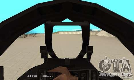 F14W Super Weirdest Tomcat Skin 1 para GTA San Andreas vista hacia atrás