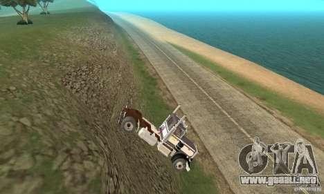 Peterbilt 289 para GTA San Andreas vista hacia atrás