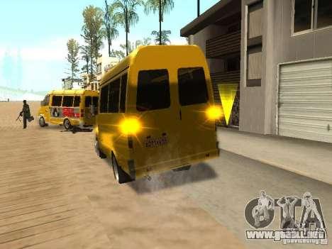 Taxi gacela 2705 para GTA San Andreas vista posterior izquierda