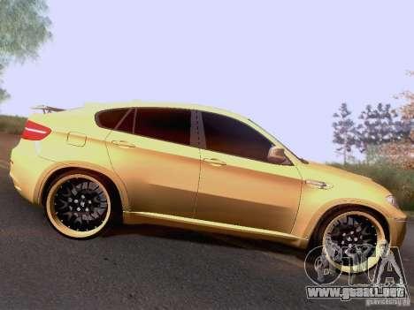 BMW X6M Hamann para GTA San Andreas vista hacia atrás