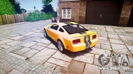 Shelby GT 500 KR 2008 K.I.T.T. para GTA 4 Vista posterior izquierda