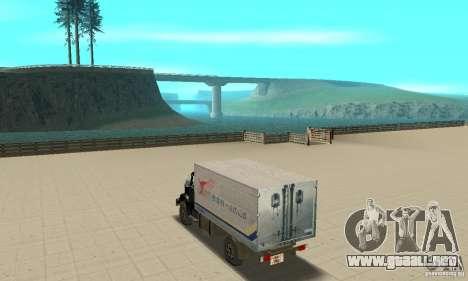 433112 ZIL con afinación para GTA San Andreas vista posterior izquierda