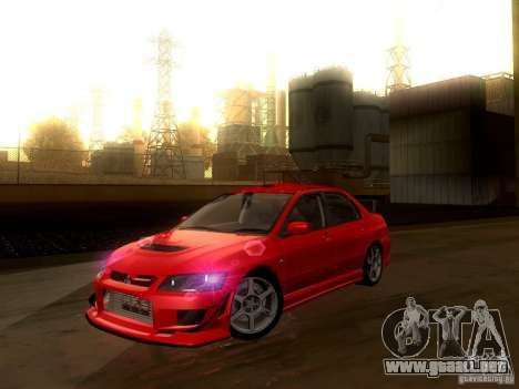 Mitsubishi Lancer Evolution VIII Full Tunable para GTA San Andreas