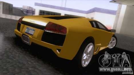 Lamborghini Murcielago LP640 2006 V1.0 para GTA San Andreas vista posterior izquierda